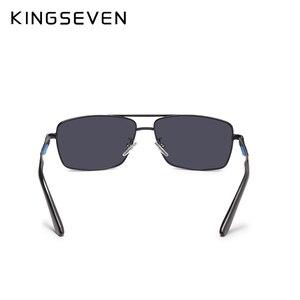 Image 5 - KINGSEVEN מותג עיצוב מקוטב משקפי שמש גברים גוונים זכר בציר משקפיים שמש לגברים Spuare מראה קיץ UV400 Oculos