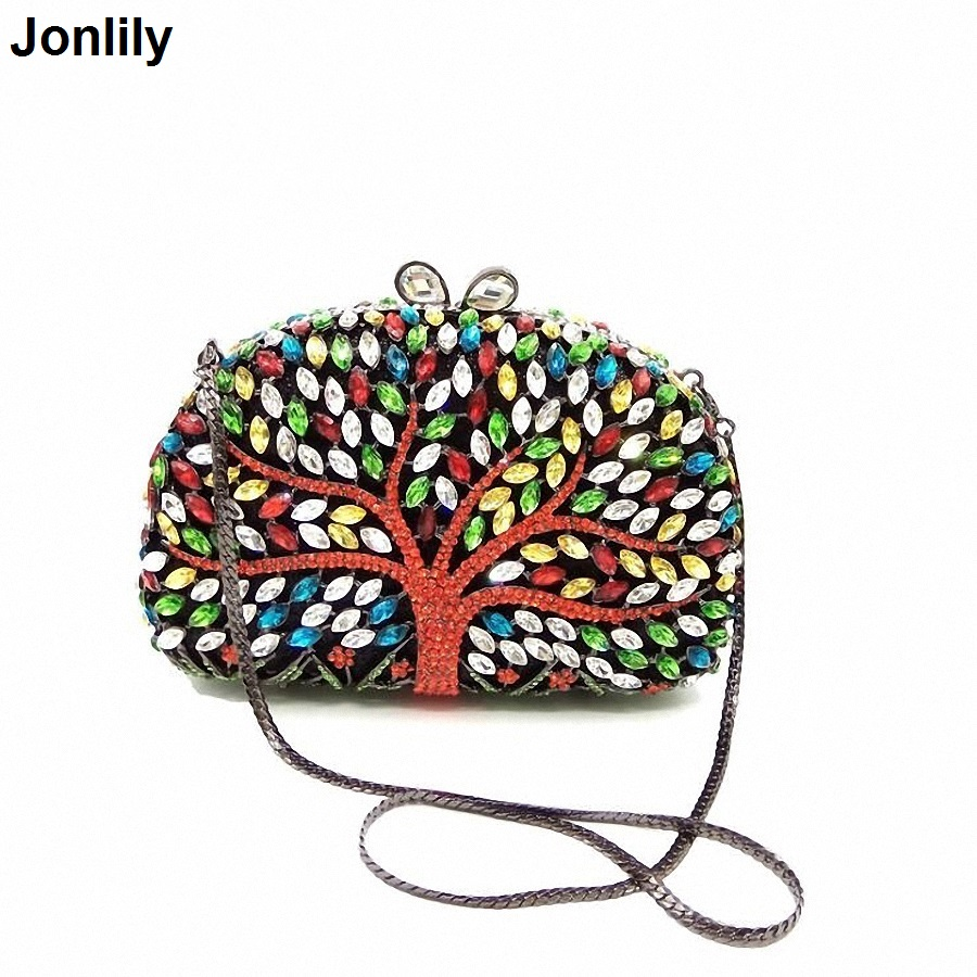 Women's Handbags Luxury Crystal Wedding Clutch Bags Purse Full Diamond Party Evening Bags Female Day Clutches LI-313 high quality women luxury crystal evening bags day clutches ladies handbags sisters party purse multi color diamond small