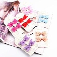 80f6f40170e9 2 piezas nuevo estilo chino doble Bowknot niñas accesorios para el cabello  niños horquillas niños Headwear