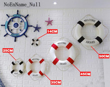 NoEnName_Null Mediterranean style ring wall decorative pendant swimming ring  Wall Art  shop decoration props  gift of love