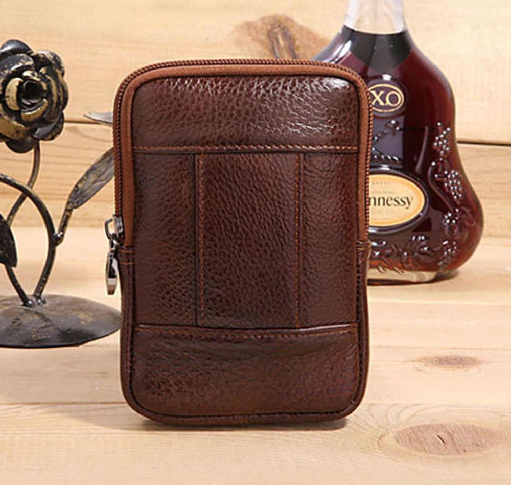 新メンズ本革コイン財布携帯携帯/電話ポケットシガレットケースベルトヒップマネー男性トレンドバッグウエストファニーパック