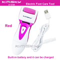 Red USB smooth strong electric pedicure tool /  rechargeable waterproof Foot Care Tool +1pcs For scholls funcdion roller heads