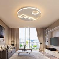 화이트 현대 Led 샹들리에 라운드 알루미늄 원격 제어 거실 침실 레스토랑 욕실 인테리어 샹들리에 조명