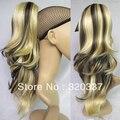 Мода женская хвост парик шиньоны широкий волнистые выделите хвост волосы коготь на хвост # K613K5 коричневый и светлые волосы