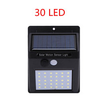 LED Solar Power Wall Light 30 LED  PIR Motion Sensor Outdoor Waterproof Energy Saving Street Yard Path Home Garden Security Lamp цена 2017