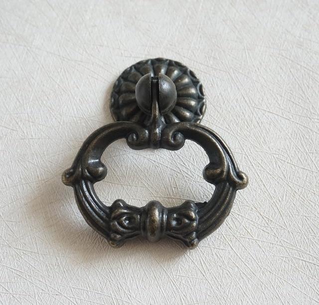 Vintage Look Dresser Pulls / Drawer Knobs Ring Drop Pull Antique Bronze /  Rustic Cabinet Door - Aliexpress.com : Buy Vintage Look Dresser Pulls / Drawer Knobs