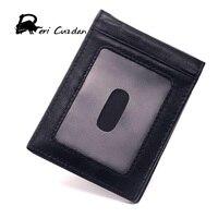 DERI CUZDAN Slim Money Clip Wallet 2017 Designer Genuine Leather Men Money Clips Thin Luxury Brand Clamp for Money Holder Card