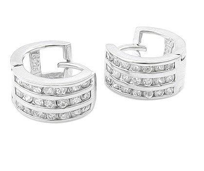 Women Earrings Nice Jewelry Earring Earrings Round Errings Silver 925 Earrings Round AAA Zircon The Free Delivery