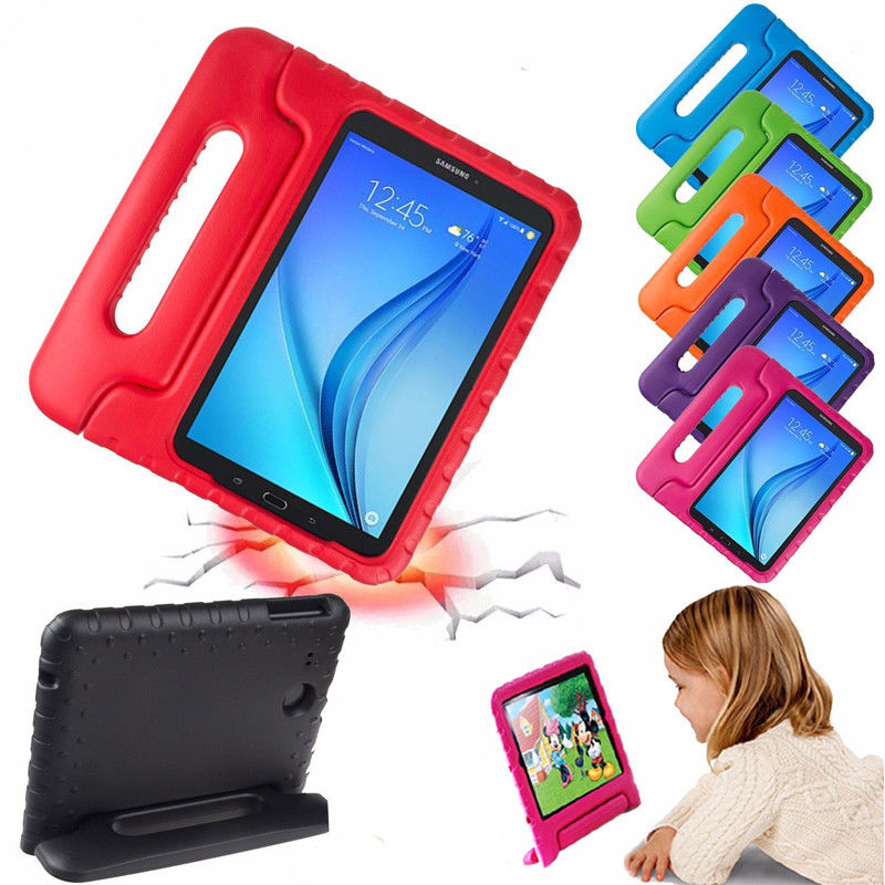 Handle Case For Samsung Galaxy Tab A 8.0 2017 T380 T385 Shockproof Case Kids Safe Armor Silicon Stand Cover For SM-T380 SM-T385