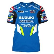 Новинка MOTO GP для SUZUKI GSX Racing Team Riding Racing Спортивная футболка Новая не выцветающая Knigh