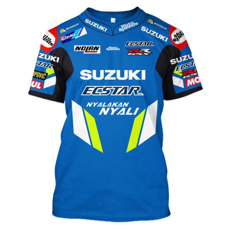 NEW 2019 MOTO GP For SUZUKI GSX Racing Team Riding Racing Sports T-Shirt New No fading Knigh