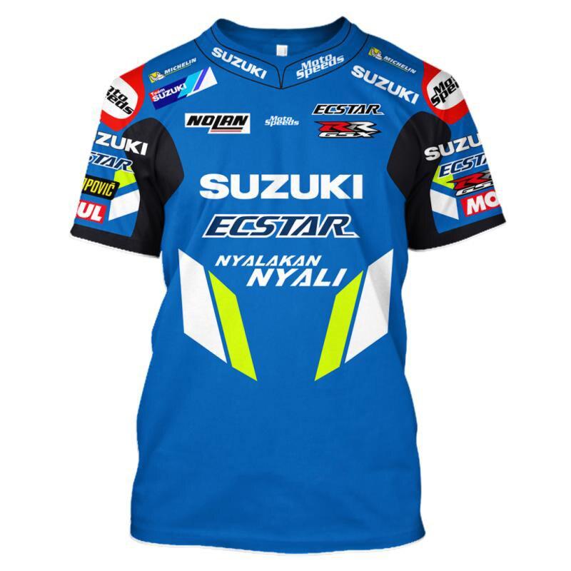 NOVO 2019 Da Equipe de Corrida de MOTO GP Para SUZUKI GSX Equitação Corrida Esportes T-Shirt Novo Nenhum desvanecimento Knigh