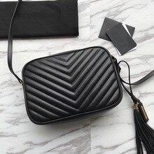 ТОП qualty Для женщин Роскошные сумки дизайнерские сумки монограмма шеврон сумки на плечо Марка кисточкой сумка lou кожаные сумки камеры