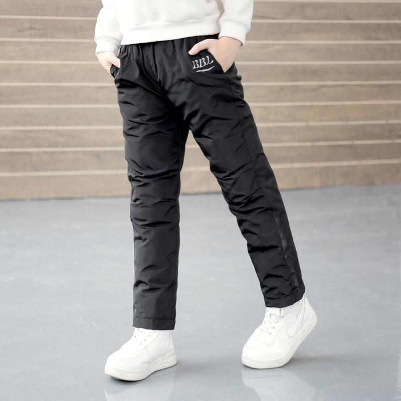 2021 Winter New Boys Pants Girls Leggings Children Down Cotton Warm Trousers Baby Waterproof Ski Pants Kids Boys Child Clothes 6