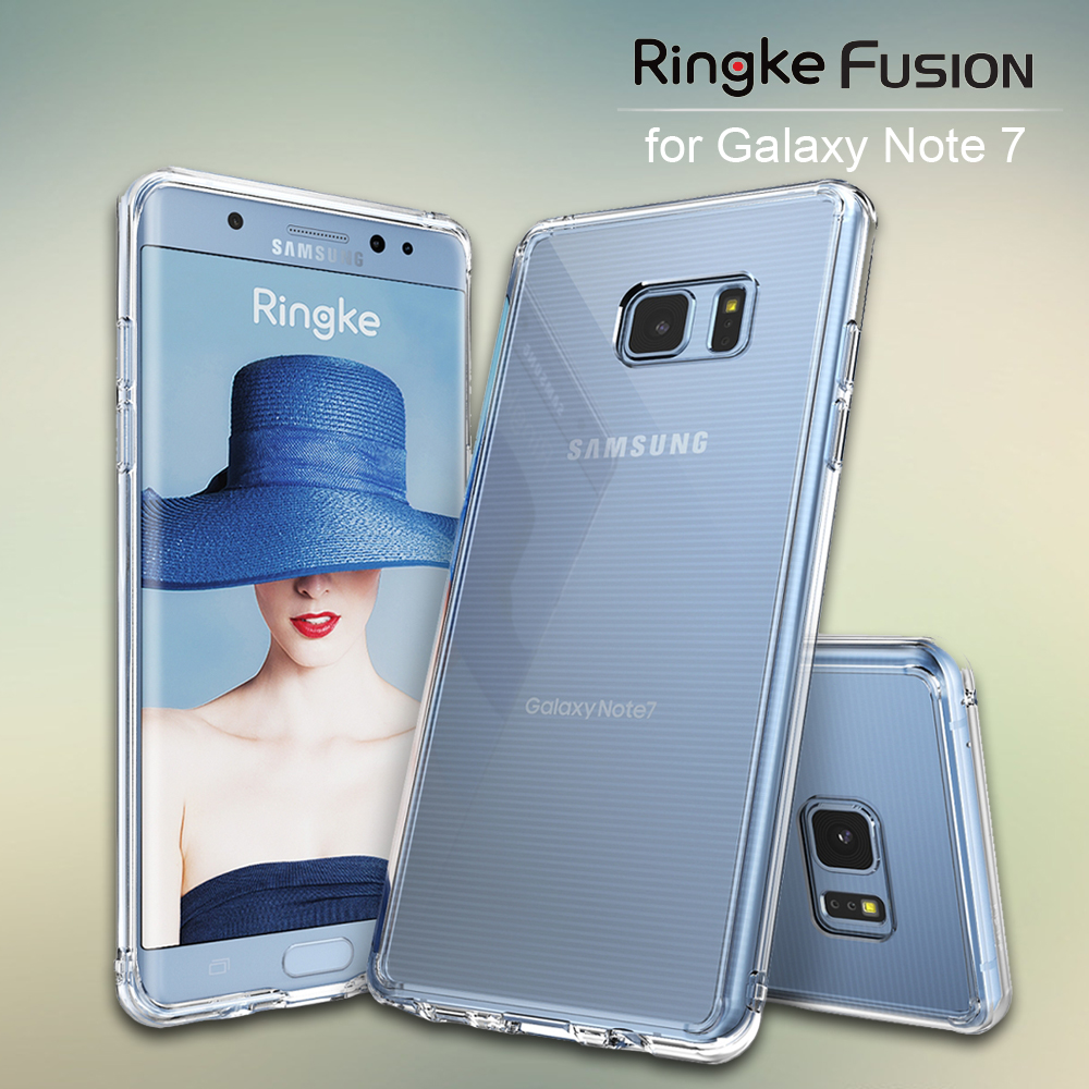 100% Original Ringke Fusion Hard Clear PC Back Soft TPU Edge Shock Absorption Case For Samsung Galaxy Note 7