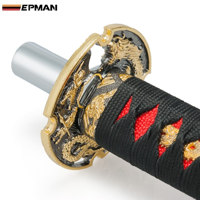 EPMAN -JDM Katana Samurai Sword Shift Knob Shifter 260mm With Adapters For Audi TT/S3/ For Seat Leon Cupra APX/BAM EP-SK100CM26