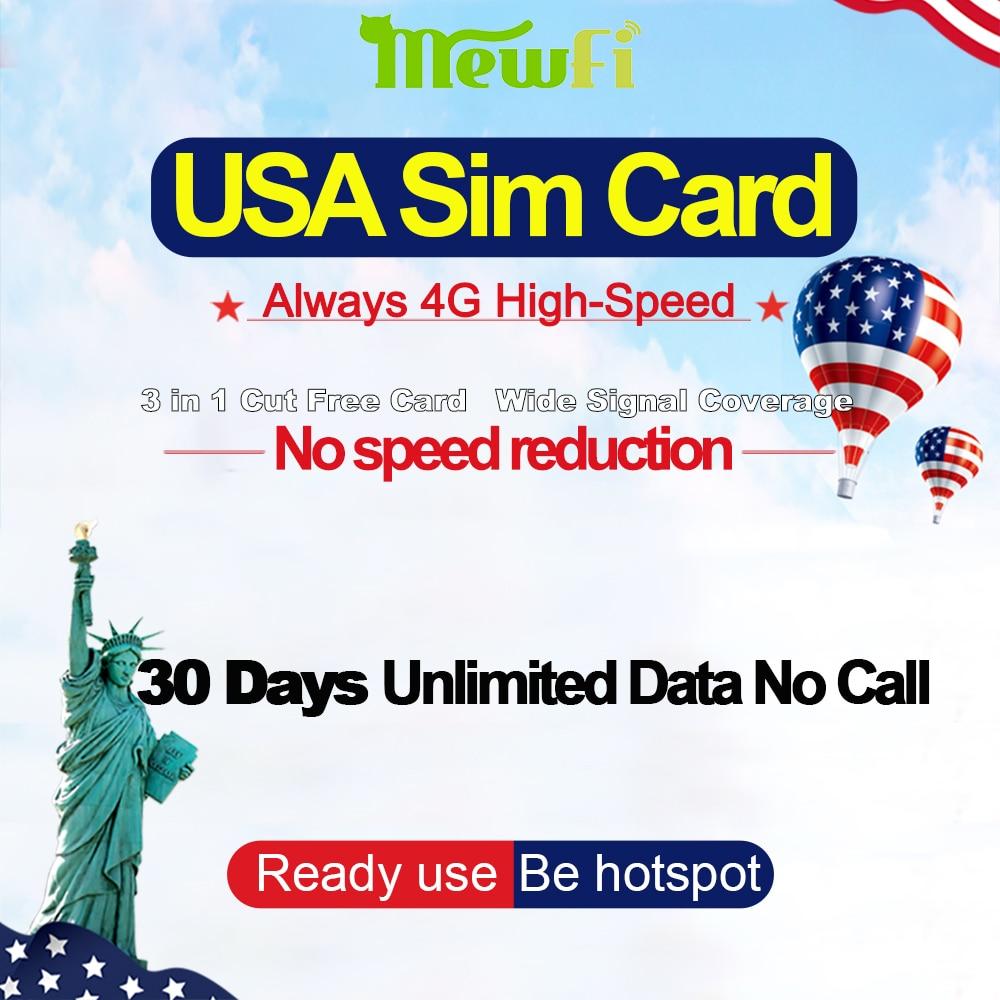 Mewfi Prepaid T Mobile American/United States/USA Travel Sim Card 10