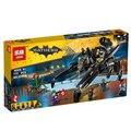 Lepin 07056 Nuevo 775 Unids Genuino Serie de Películas de Batman El Transcursor Bat Nave Espacial Conjunto de Bloques de Construcción Ladrillos de Juguetes Educativos 70908