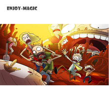 Home Wall Decoration Retro Poster Rick and Morty Adult Swim Cartoons Space Animation Planet 40X70 Cm