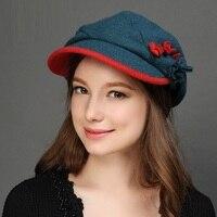 New Arrival Wool Hat Women 's Woolen Baseball Cap Female Casual Joker Painter Bere Cap Students Travel Hat B 7609