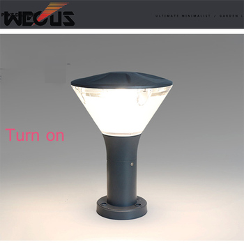 Simple outdoor lighting waterproof courtyard landscape light Nordic lawn garden villa pillar lamp post fixture tuinverlichting