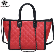 Fashion Womens Plaid Handbag Famous Brand Women Leather Handbags Big Shoulder Bag Luxury Handbags Women Bags Designer Sac A Main