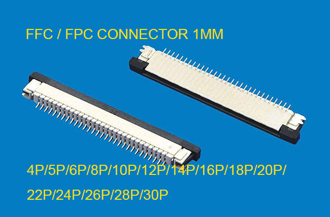10pcs FFC / FPC Connector 1mm 4 Pin 5 6 7 8 10 12 14 16 18 20 22 24 26 28 30P Drawer Type Ribbon Flat Connector Top Contact