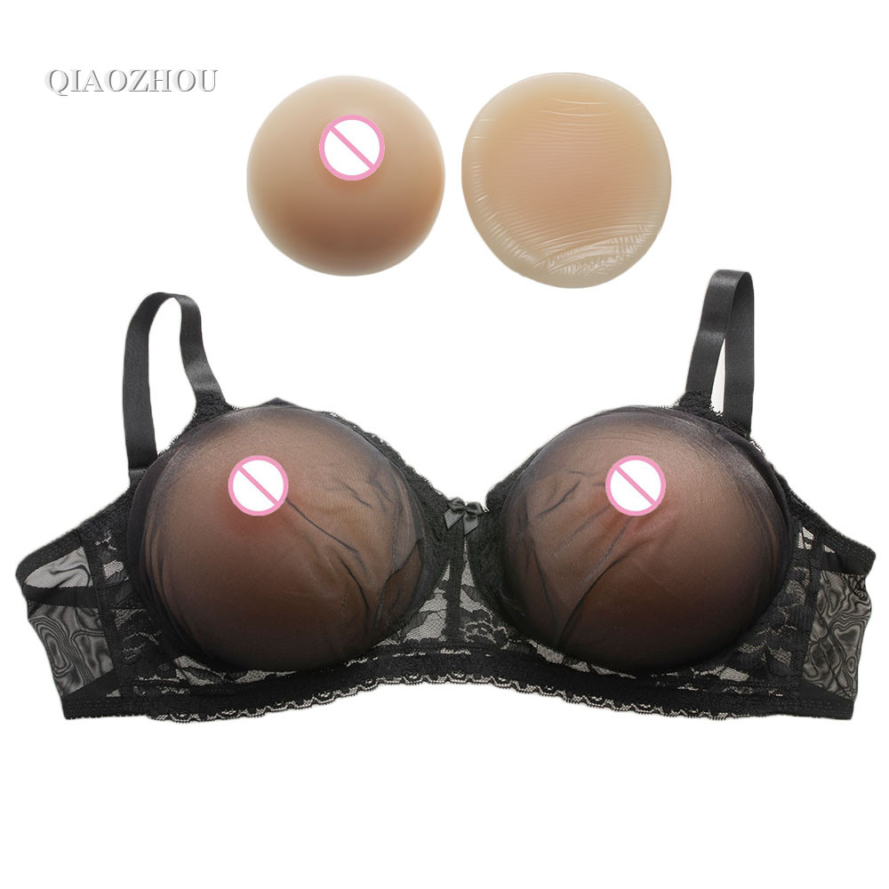 75B transgender 600g silicone breast round nude skin drag queen cd fake breasts boobs with sexy bra pink black two color mosca москва альбом на итальянском языке