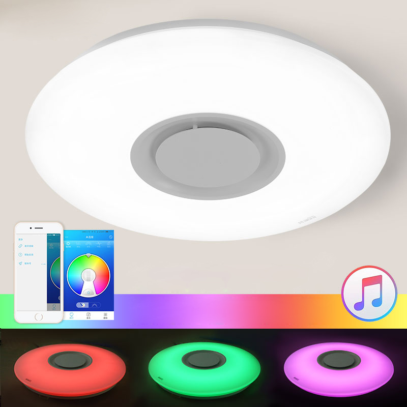 Lustres De Sala App Control Full Color Dimmable 36w Led Ceiling Light With Bluetooth & Music 90-260v Modern Lamp For 15 Square цены