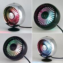 Ventilateurs de voiture rotatifs 3 vitesses Auto refroidissement circulateur dair ventilateur 12 V lumières LED respiration électrique faible bruit pour accessoires dété