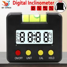 Mini Digital Display Protractor Inclinometer Level Meter 0.1 Degree Resolution and Degree Range