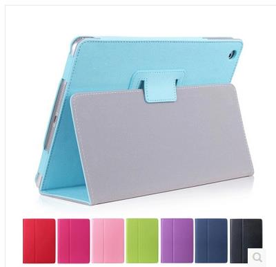 For Apple iPad Air 2 Tablet Case , Flip PU Leather Stand Cover for iPad Air 2 Solid Funda Capa Case with Pen Holder