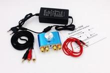 Mini amplificador de potencia Digital con adaptador de corriente, 50W + 50W, Audio F900, Bluetooth, estéreo Hifi