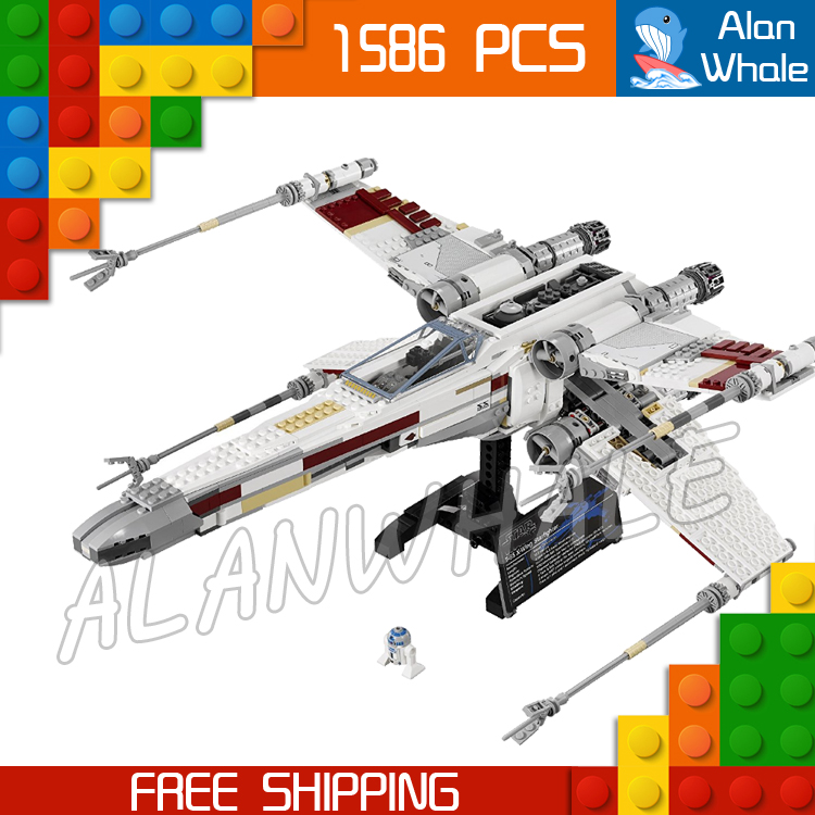1586pcs Space Wars Red Five X Wing Starfighter 05039 Figure Building Blocks Teenagers Toys Set Compatible With LegoING