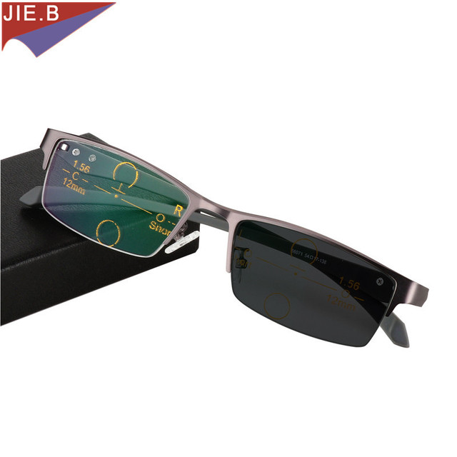 7a3f963e7f Hombres de negocios de gama alta sol Photochromic progresiva enfoque gafas  al aire libre gafas de
