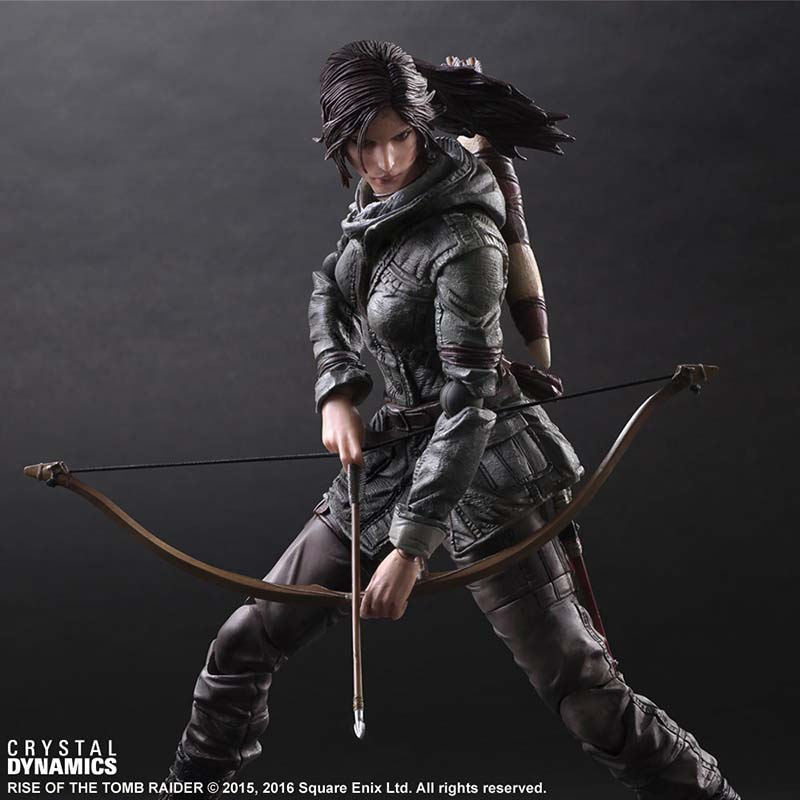 Square Enix Figure Play Arts Kai Rise of the Tomb Raider: Lara Croft PVC Action Figure Figurine Collectible Toy 27cm цена