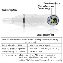 Portable Micro Dermabrasion Removal Scar Acne Pore Device
