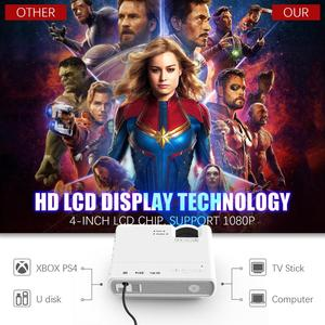 Image 4 - Powerful LED Projector T5 2600 Lumens Video Beamer Android 6.0 WIFI Wireless Sync Display For Phone mini Proyector Home Theater