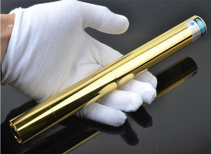 Haute puissance Forte puissance militaire bleu pointeurs laser 450nm allumette brûlante/bois sec/bougie/noir/cigarettes + 5 caps