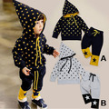 2017 New Autumn Winter Children Star Print Clothing Set Baby Boys Girls Hooded Suits 2pcs/set Kids Clothes For 2015 Spring Hot
