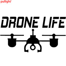 """14 CM * 7.8 CM Car Decal Sticker UAV Drone """"Drone"""" Vida Vinilo Coche Estilos de Decoración de La Motocicleta(China)"""