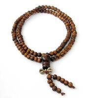 108 Beads 6mm Pine Wood Tibetan Buddhist Prayer Beads Rosary Japa Mala
