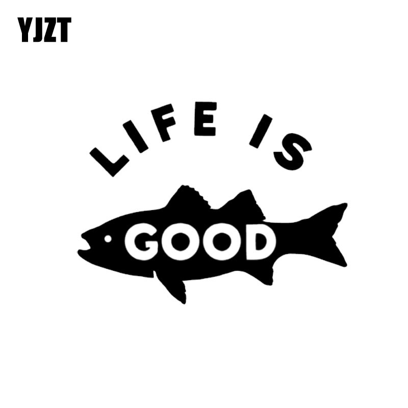 Exterior Accessories Delicious Yjzt 12cm*9cm Fun Life Is Good Fish Vinyl Car-styling Car Sticker Decal Black Silver Accessories C11-0032 Nourishing The Kidneys Relieving Rheumatism Car Stickers