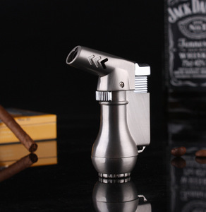 Image 4 - NEW Portable Spray Gun Compact Butane Jet Lighter Torch Turbo Lighter Fire Windproof Metal JET Lighter 1300 C NO GAS