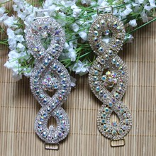 Free Shipping Wholesale 10pcs/lot 6 Rhinestone Connector Apparel Buckle Bridal Bikini Headband LSRC021