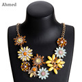 Ahmed Bohemian Exaggerated Multilayer Rhinestone Crystal Sun Flower Pendant Necklace for Women New Collar Bijoux Fashion Jewelry