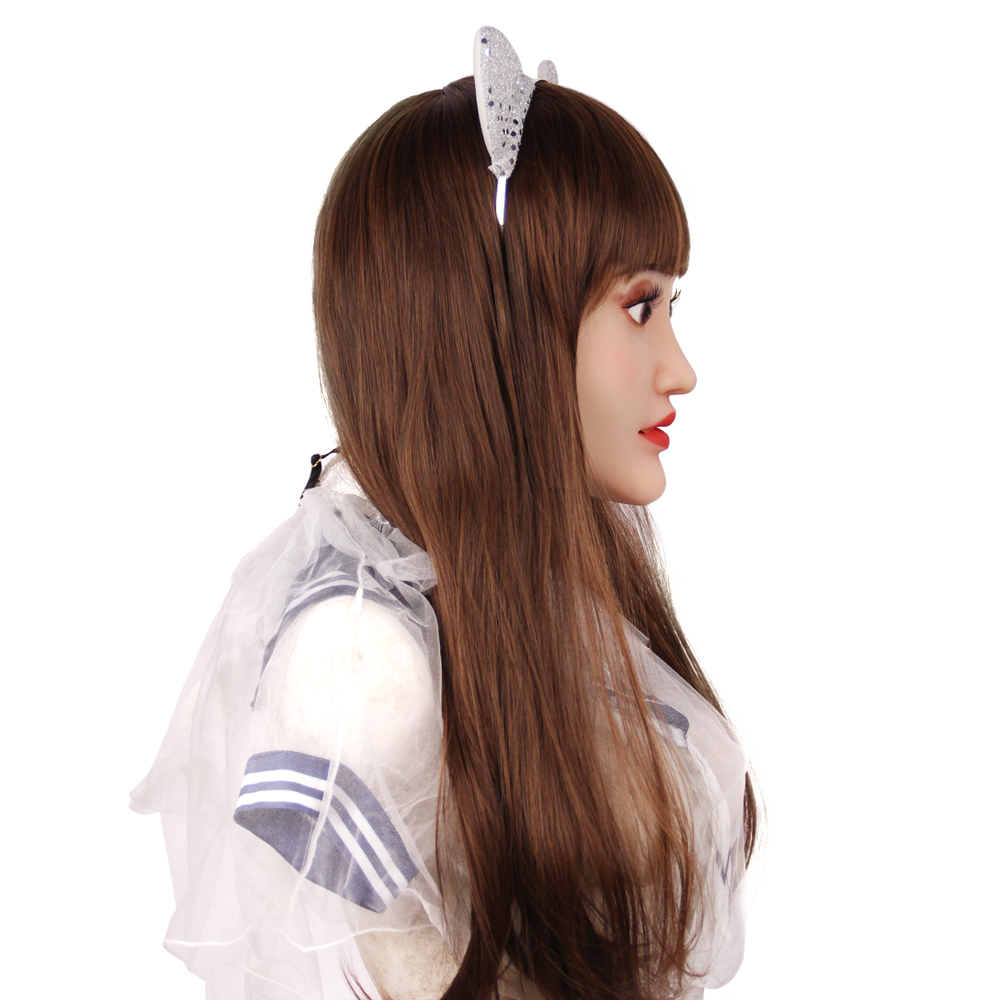 KOOMIHO Sophia Soft Silicone Crossdress Cosplay Mask Realistic Female Head Mask Makeup Mask Transgender Halloween Mask 1G  - buy with discount