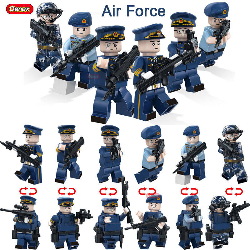 Oenux 2017 WW2 Military The Pacific Ocean War US Air Force Figures With Weapons Model Building Block Mini Military Brick Toys a memoir of the pacific war