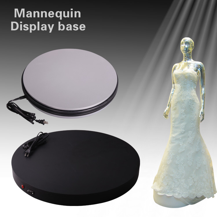 3D Photo Shop Clothing Model Display Automatic Rotating Turntable 360 Degree Mannequin Photography Video Stand Base Up TO 50KG merchandise display base 360 degree electric rotary table display for photography 25cm automatic revolving platform handicraft