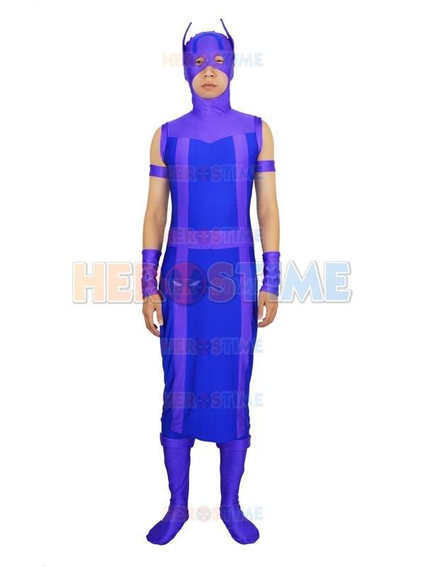 Avengers Hawkeye Costume Spandex Purple & Blue Avengers Hawkeye - Կարնավալային հագուստները - Լուսանկար 1